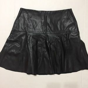 BB Dakota  Faux Leather Mini Skirt Size 8 Black
